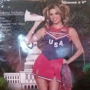 """Gimme a V"" Cheerleader Halloween Costume - Small"
